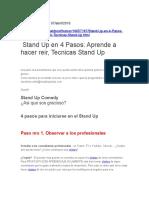 Stand Up en 4 Pasos Aprende a hacer reir