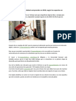 Los negocios en los que debería emprender en 2018 (Dinero) - 10 septiembre