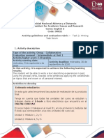 Activities guide and evaluation rubric - Unit 1 - Task 2 - Writing task forum