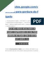 ➥Chá Para Gordura No Fígado【CAFÉ MARITA 3.0 DEPOIMENTO】