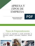 Empresa y Tipos de empresa 2018 I DE 1E