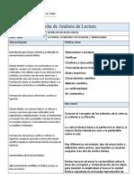 Ficha de análisis de lectura UTEA