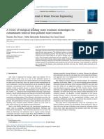 Una revisión de las tecnologías biológicas de tratamiento de agua potable para