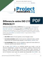 Diferencia entre ISO 21500 y PRINCE2® - Certificación PM