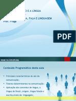 ELEMENTOS DA COMUNICAÇÃO E A LÍNGUA PORTUGUESA