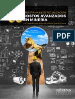 Folleto COSTOS AVANZADOS EN MINERÍA 2018