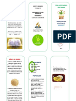 triptico de recetas quinua
