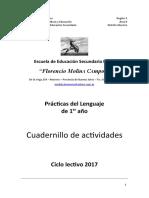 PRACT. LENG. Cuadernillo para 1er año 2017.docx