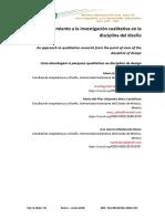 Un Acercamiento a La Investigación Cualitativa en La Disciplina Del Diseño