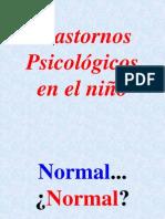 Trastornos psicologicos en el nino