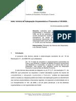 MP 1000-2020 - Nota Tecnica no 85-2020 -SF - Robison