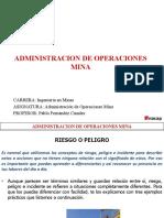 ACTIVIDAD RIESGO Y PELIGRO - ADMINISTRACION DE OPERACIONES MINA.pptx