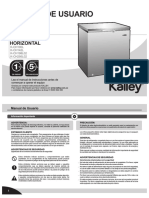congelador kalley K-CH100L