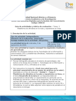 Guía de actividades y rúbrica de evaluación - Unidad 1 - Tarea 2 - Plataforma de ofimática en la nube y repositorios en línea