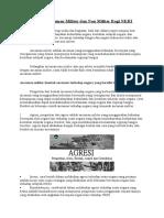 Bentuk Ancaman Militer dan Non Militer Bagi NKRI