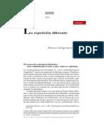 Trópico Seligmann-Silva La Repetición Diferente