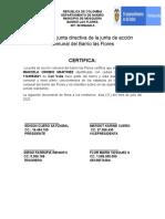 certificaciones para la UNA JAN FLORES
