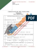 ListaFacultati.ro Subiecte Admitere Academia Tehnica Militara Bucuresti Matematica Fizica 2008