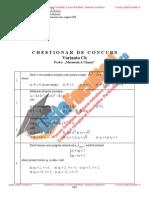 ListaFacultati.ro Subiecte Admitere Academia Tehnica Militara Bucuresti Matematica Chimie - 2008