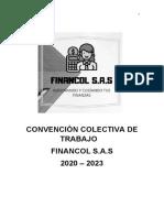CONVENCION COLECTIVA DE TRABAJO FINANCOL S.A.S