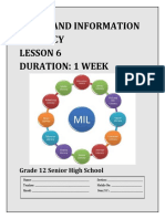 LM SHS Media and Information Literacy - Lesson 6