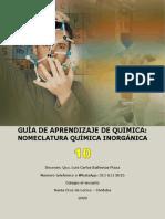 GUIA GRADO 10° NOMENCLATURA QUÍMICA