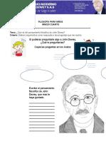 Guía 1 Filosofía para niños, grado 4