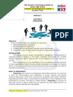 ORGANIZATION AND MANAGEMENT MODULE 7