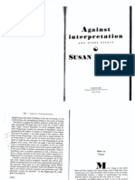 Sontag, Against Interpretation