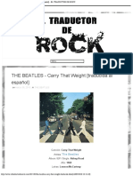 THE BEATLES - Carry That Weight [traducida al español] - EL TRADUCTOR DE ROCK