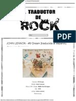JOHN LENNON - #9 Dream [traducida al español] - EL TRADUCTOR DE ROCK.pdf