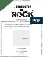 THE BEATLES - Dear Prudence [la mejor traducción y la historia de la canción] - EL TRADUCTOR DE ROCK.pdf