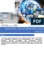 NATIONAL TELECOMMUNICATION  POLICY 1912109114
