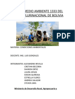 LEY DEL MEDIO AMBIENTE 1333 DEL ESTADO PLURINACIONAL DE BOLIVIA