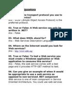 Web Service Questions