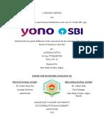 Project Report on YONO SBI (Anirban Dutta)