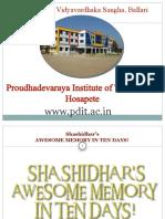 memory training workshop ppt by sm shashidhar