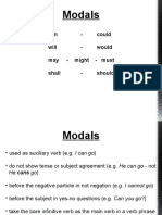 INTRODUCTION TO MODALS