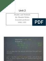 Unit 2 Duality