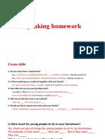 Speaking homework