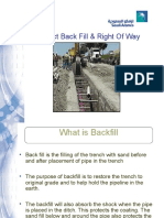 Inspect back fill & right of way