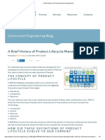 A Brief History of Product Lifecycle Management
