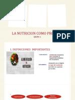LA NUTRICION COMO PROCESO COMPLETICO