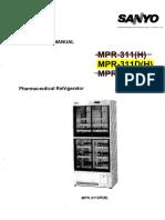 Sanyo Refrigerator MPR-311D(H)
