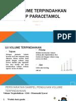 Uji Volume Terpindahkan Sirup Parasetamol
