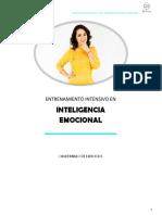 CUADERNILLO DE EJERCICIOS ENTRENAMIENTO EN INTELIGENCIA EMOCIONAL(sesiones 1-5)