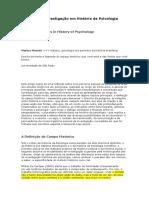 Métodos de Investigação em História da Psicologia