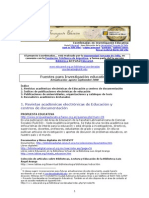 Fuentes para Investigación Educativa
