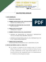 RAMIRO PACO PEREZ MATTOS - CONCILIACION N°02 TALARA - PIURA