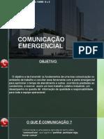 COMUNICAÇÃO EMERGENCIAL